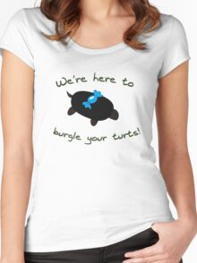 Burgle your Turts! Women's Fitted Scoop T-Shirt