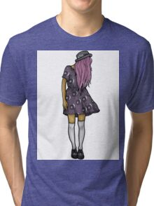 Medium Hipster Girl Tri-blend T-Shirt