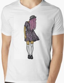 Medium Hipster Girl Mens V-Neck T-Shirt