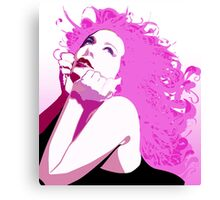 EMO- Pink Curly Hair  Canvas Print