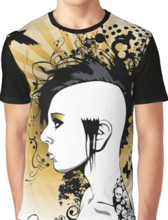 EMO- Yellow Morose Girl Graphic T-Shirt