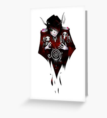 EMO- Flying Vampire Greeting Card