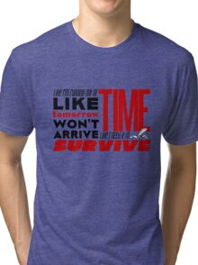 Write Like I'm Running Out of Time (Red) Tri-blend T-Shirt