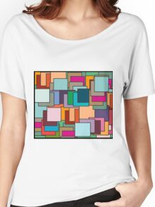 Patch  patchwork abstract  pattern  Women's Relaxed Fit T-Shirt