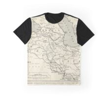 Vintage WW1 Map - Theatre Of British Military Operations Graphic T-Shirt
