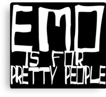 EMO- Pretty People Inside Out Canvas Print