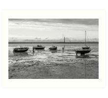 Thorpe Bay, low tide Art Print