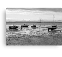 Thorpe Bay, low tide Canvas Print