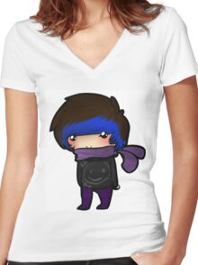 EMO- Ninja Inspired By Naruto Women's Fitted V-Neck T-Shirt