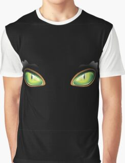 Cat Green Eyes Graphic T-Shirt