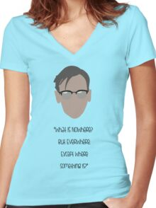 Gotham, Nygma, Quote Women's Fitted V-Neck T-Shirt