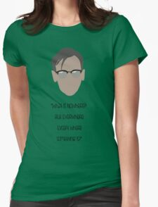 Gotham, Nygma, Quote Womens Fitted T-Shirt
