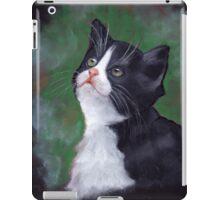 Cat Looking Up: Kitten: Oil Pastel Painting iPad Case/Skin