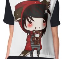 EMO- Red Riding Hood and The Wolf Pack Chiffon Top