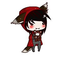 EMO- Red Riding Hood and The Wolf Pack Photographic Print