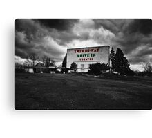 Drive-In Theater Selective Color I Canvas Print