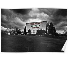 Drive-In Theater Selective Color I Poster