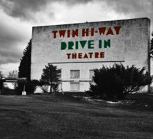 Drive-In Theater Selective Color I Sticker