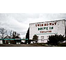 Drive-In Theater TiltShift Photographic Print