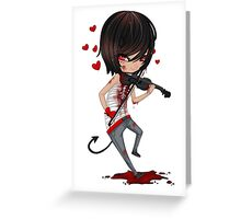 EMO- Musicians Love For Music Greeting Card