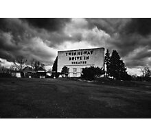 Drive-In Theater B&W Photographic Print