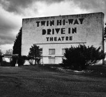 Drive-In Theater B&W Sticker