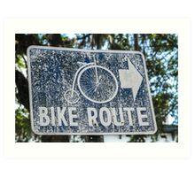 Savannah bike route Art Print