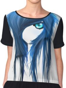 EMO- Blue Eyes White Dragon Chiffon Top