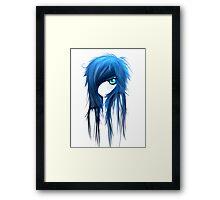 EMO- Blue Eyes White Dragon Framed Print