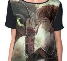 HTTYD - How to Train Your Dragon - Hiccup & Toothless Chiffon Top