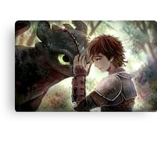 HTTYD - How to Train Your Dragon - Hiccup & Toothless Canvas Print
