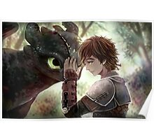 HTTYD - How to Train Your Dragon - Hiccup & Toothless Poster