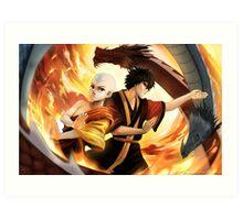 Avatar the Last Airbender - Aang & Zuko Art Print