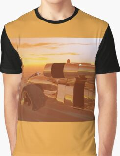 ARES CYBORG IN THE DESERT OF HYPERION,Sci Fi Graphic T-Shirt