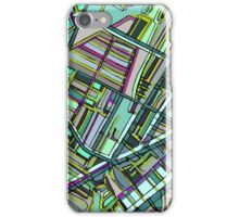 Abstract Map of Davis Square, Somerville iPhone Case/Skin