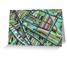 Abstract Map of Davis Square, Somerville Greeting Card