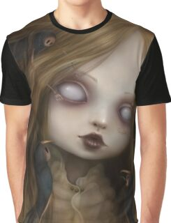 EMO- Creepy Baby Blonde Girl Graphic T-Shirt