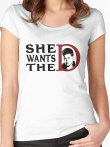 She wants the dean Women's Fitted Scoop T-Shirt
