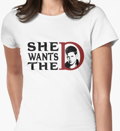 She wants the dean Womens Fitted T-Shirt