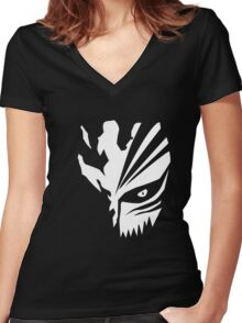 Mask of None Women's Fitted V-Neck T-Shirt