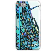 Abstract Map of Boston Back Bay iPhone Case/Skin