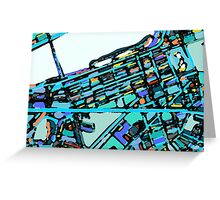 Abstract Map of Boston Back Bay Greeting Card