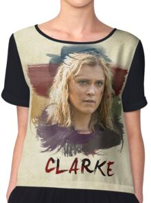 Clarke - The 100 - Brush Chiffon Top