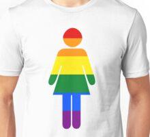Gay lesbian pride female  flag Unisex T-Shirt