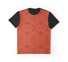 Black Maple Leaf Pattern Graphic T-Shirt