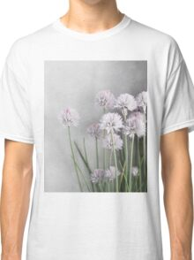 Gray and Lavender Chive Blossoms Classic T-Shirt