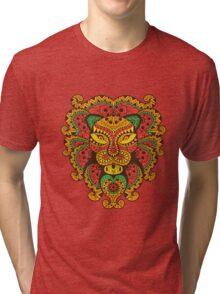 Abstract Lion Tri-blend T-Shirt