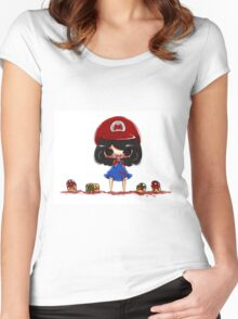 EMO- Princess Mario Women's Fitted Scoop T-Shirt