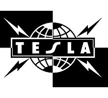 tesla logo band Photographic Print