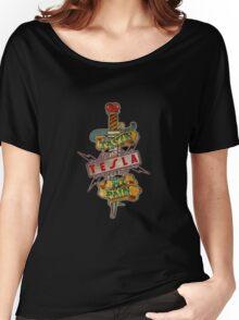 tesla logo band pain Women's Relaxed Fit T-Shirt